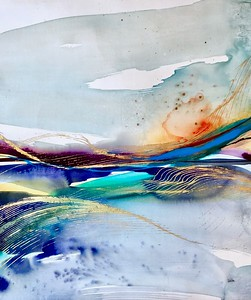 """Swell 2-Leila, 30""""x26"""" painting on loose canvas"""