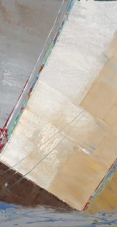 Canvas Jumble 1B-Burrows, 38x20 on canvas