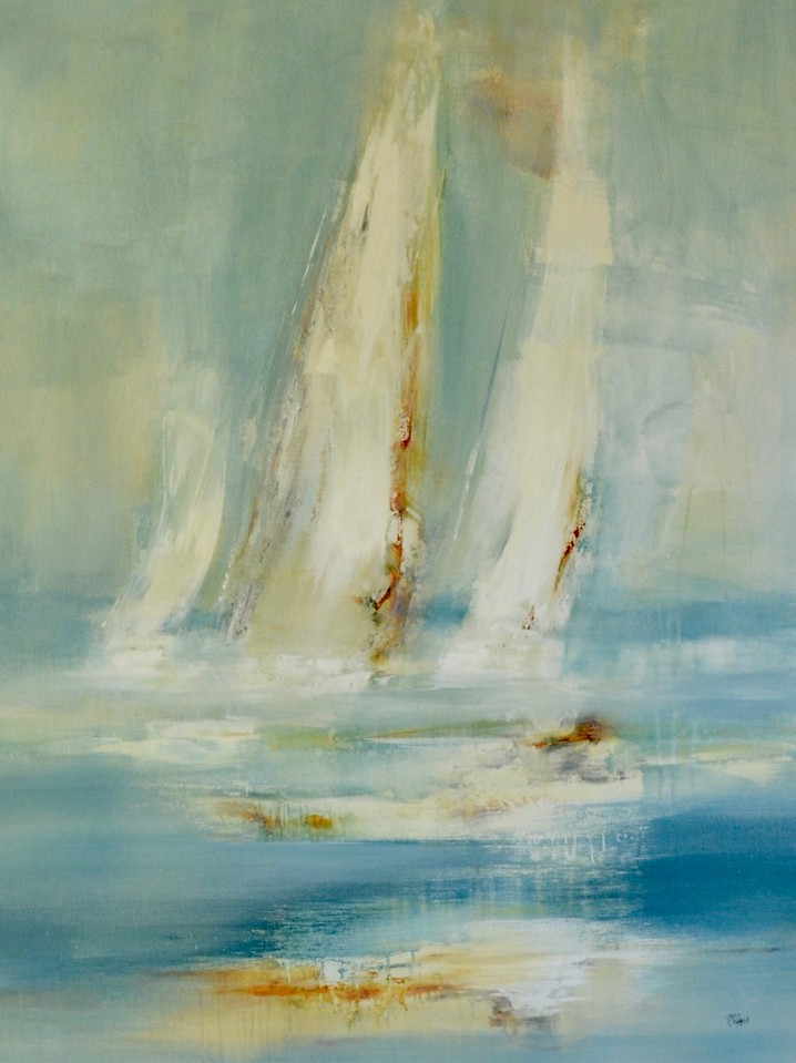 """Sail with me-Ridgers, 36""""x46"""" painting on canvas"""