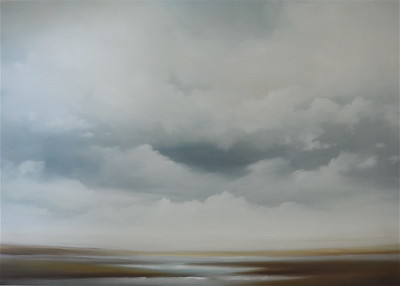 "Scape 347 by Haxton, 43""x60"" oil painting on loose canvas"