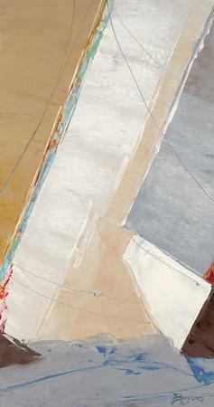 Canvas Jumble 1A-Burrows, 38x20 on canvas