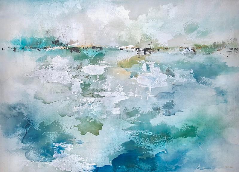 Aqua Scape-Rei, 36x50 painting on canvas