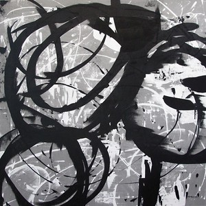 "Gray Circling-Iorillo, 50""X50"" on canvas"