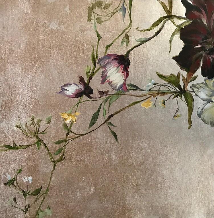 "In Full Blooms II-Jardine, 24""x24"" on canvas"