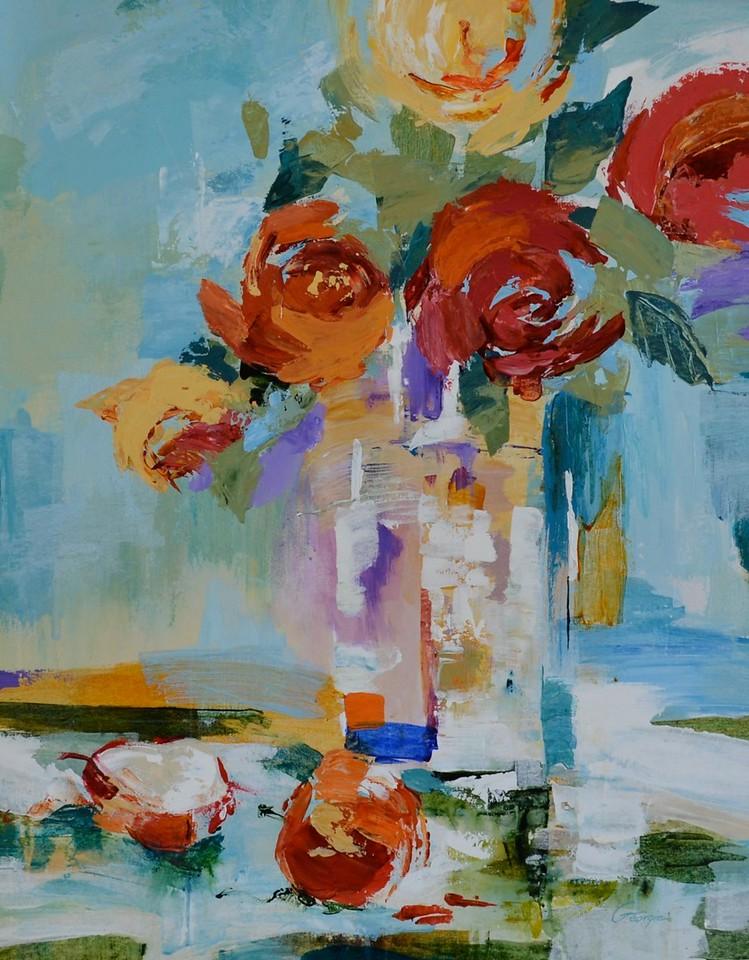 Crystal Vase II-Georgie, 24x30 on canvas
