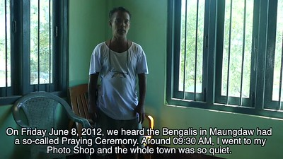Maungdaw photographer U Hla Shwe talks about how he filmed the 2012 attacks by Bengal Muslims (so-called Rohingya)