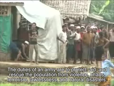 Burmese Army confronts Bengali Muslims (so-called Rohingya)