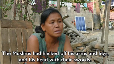 A WOMAN IN MRAUK-U TELL OF THE BRUTAL KILLING OF HER HUSBAND IN 2012