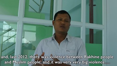 A BUDDHIST MAN IN SITTWE TELLS OF THE HORRIFYING DAY IN 2012 WHEN HE HAD TO RESCUE HIS FAMILY AND MOTHER