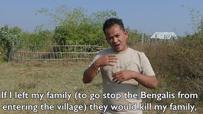 A MAN IN SITTWE SPEAKS OF THE VIOLENCE OF THE BENGALI MUSLIMS IN 2012