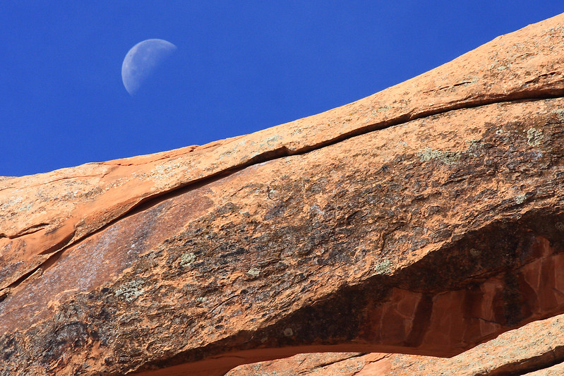 Landscape Arch and Moon, Arches NP Utah