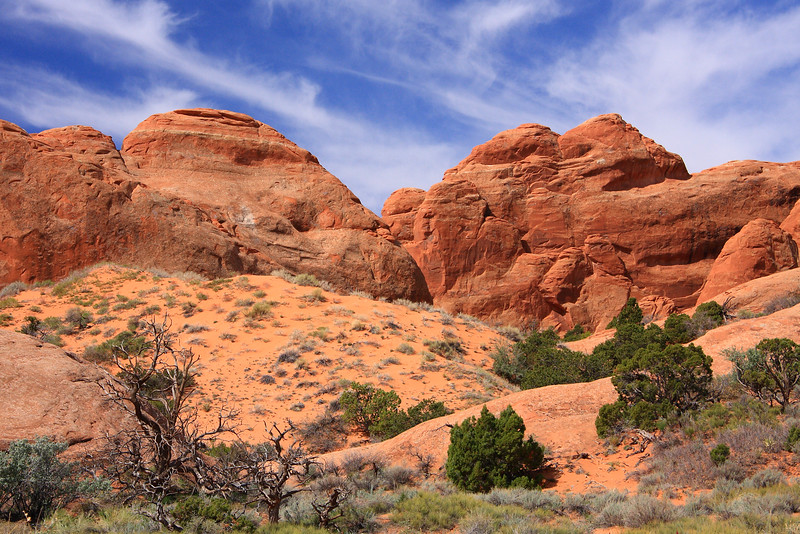 At Devil's Garden, Arches National Park