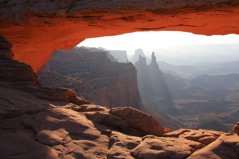 View of the Washer Woman from Mesa Arch, Canyonlands NP