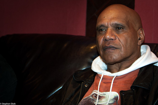 ARCHIE ROACH Recording session for the album, Journey, 12 July 2007.