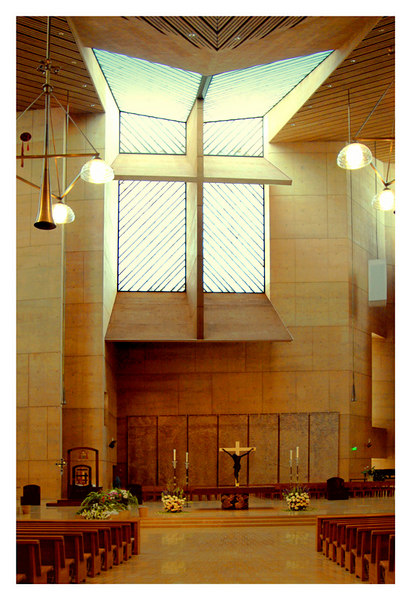 This is a view of the altar with the window and cross above it as seen on the first picture of this gallery.