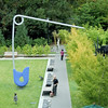 The giant safety pin sculpture at the sculpture garden