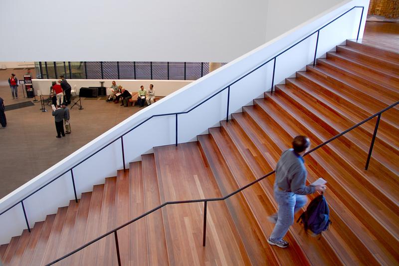 Main stairway to second floor.