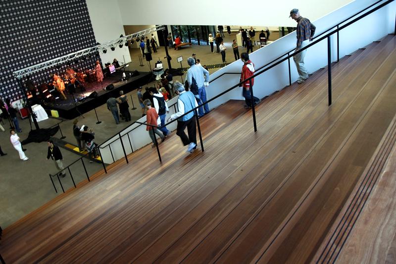 The main stairway.
