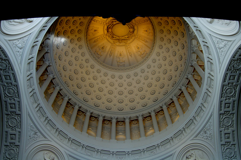 The dome ceiling. What you see here is not the dome itself but the smaller diametered ceiling.