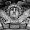 A detail of the many bas relief carvings around the rotunda walls and arches.