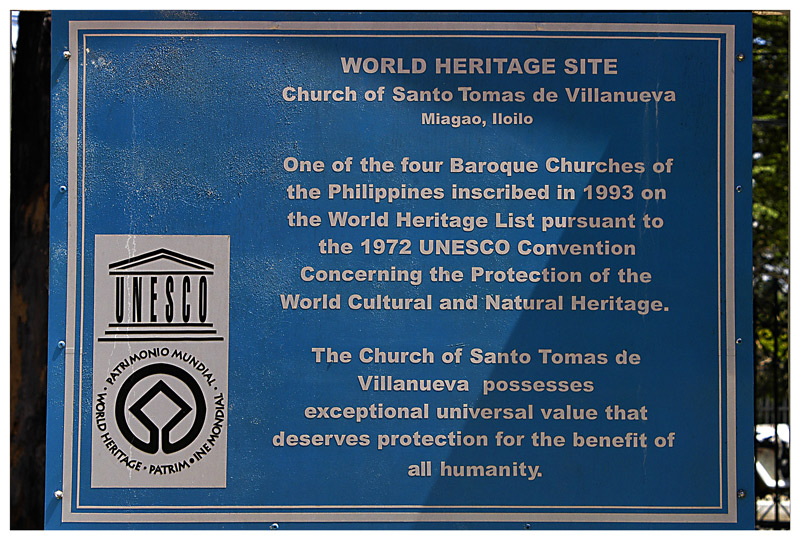 The UNESCO plaque.