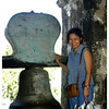 She is Maria Luisa de Jesus, our host. She and her husband  were our guide to this church. This was taken at the secondary belltower.