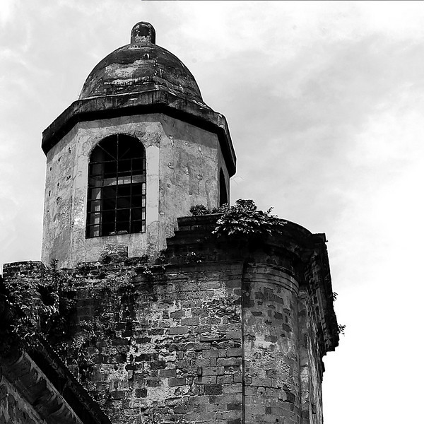 The bell tower from the rear side.