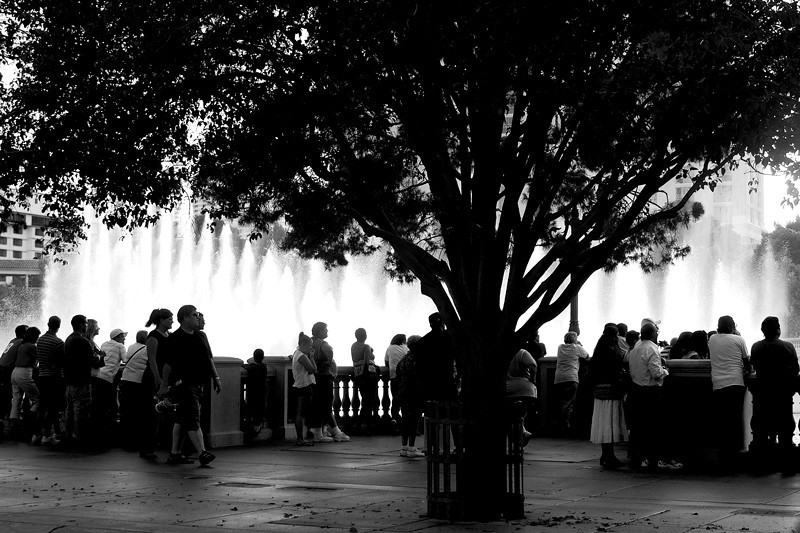 The dancing water fountains at Bellagio Hotel and Casino.