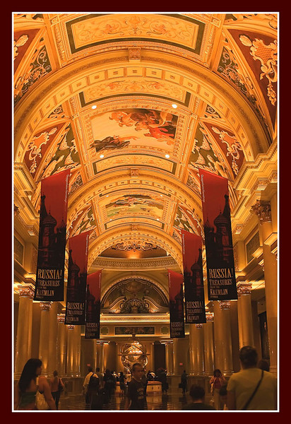 At the Venetian Hotel and Casino.