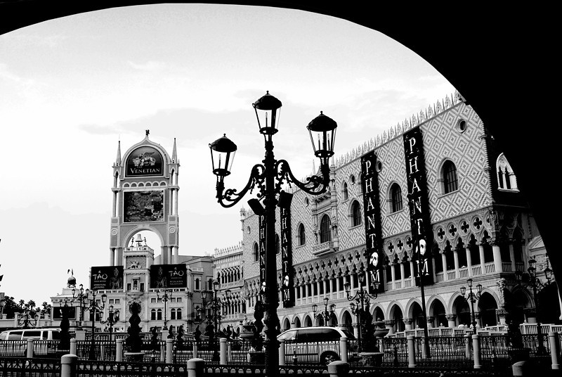 The venetiaon Hotel and Casino. Theis picture was taken under the replica of the Bridge of Sigh in Venice.