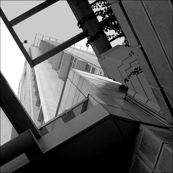 Taken from below the Golden Triangle Condominium of Ayala Development.