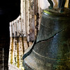 The old cracked church bell is being kept at the second floor choir area.