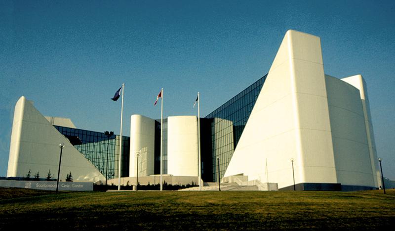 Scarborough Civic Center, Architect: Raymond Moriyama