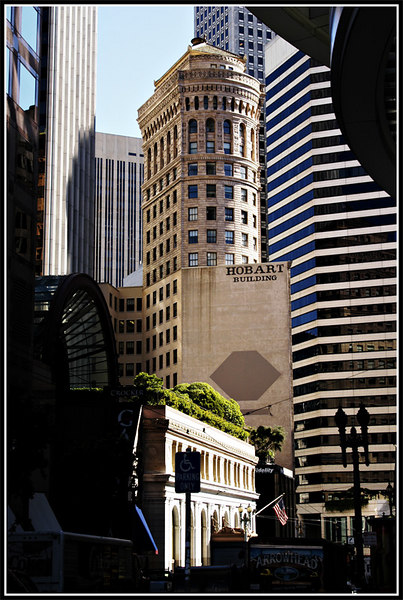 Completed in 1914, by the famed architect Willis Polk, the Hobart Building is considered one of San Francisco's most well-known historic landmarks. From the sculpted terra cotta exterior to the handcrafted brass and Italian marble interior, the building is a stunning example of classical revival architecture. It is at the corner of Montgomery Street and Post Street.