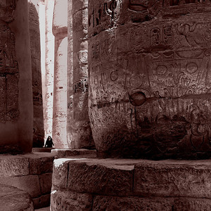 THE ARCHEOLOGICAL RUINS OF KARNAK TEMPLE, EGYPT