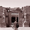 The acess to the Temple of Ramses II