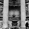 Several monumental tombs are set into the walls of Pantheon like this one, including that of the artist Raphael. Vittorio Emanuele II, first king of a unified Italy, and his successor, Umberto I, are interred here as well.