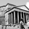 """The huge, 60 tons weighing columns used for the portico were quarried in Egypt. They were transported all the way to Rome using barges and vessels. The columns support a pediment with an inscription attributing the Pantheon to Marcus Agrippa even though it was built by Hadrian.<br /> <br /> Information taken from  http//: <a href=""""http://www.aviewoncities.com/"""">http://www.aviewoncities.com/</a>"""