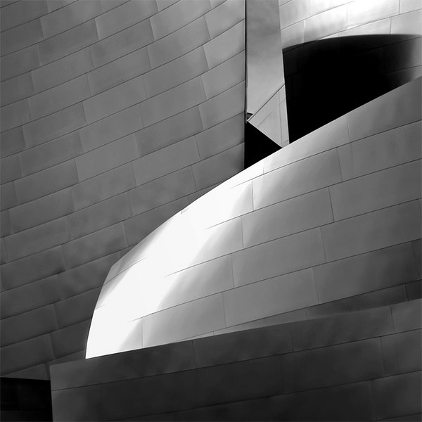 Here is another view of the Disney Concert Hall in Los Angeles. This was taken from the roof top terrace. The shades and tonal values of the building changes as the sun's position changes reminding me of the Grand Canyon.
