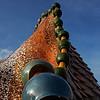 Toiture de la Casa Battlo - Antoni Gaudi<br /> Barcelone