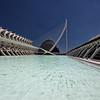 Le Musée des sciences Príncipe Felipe, le Pont de l'Assut de l'Or ou Pont de la Serradora, l'Agora et l'Umbracle<br /> Ciudad de las Artes y las Ciencias <br /> Valencia ( Espagne )