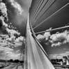 Le Pont de l'Assut de l'Or ou Pont de la Serradora.<br /> Architecte Santiago Calatrava<br /> Valencia  (Espagne)
