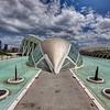 L'Hemisfèric<br /> Architecte Santiago Calatrava<br /> Ciudad de las Artes y las Ciencias <br /> Valencia ( Espagne)