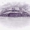 L'Hemisfèric  (Version graphique)<br /> abrite un planétarium et un cinéma pour des projections Omnimax.<br /> Architecte Santiago Calatrava<br /> Ciudad de las Artes y las Ciencias <br /> Valencia ( Espagne)