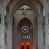 Rosace représentant les Arts Libéraux vue depuis le transept sud.