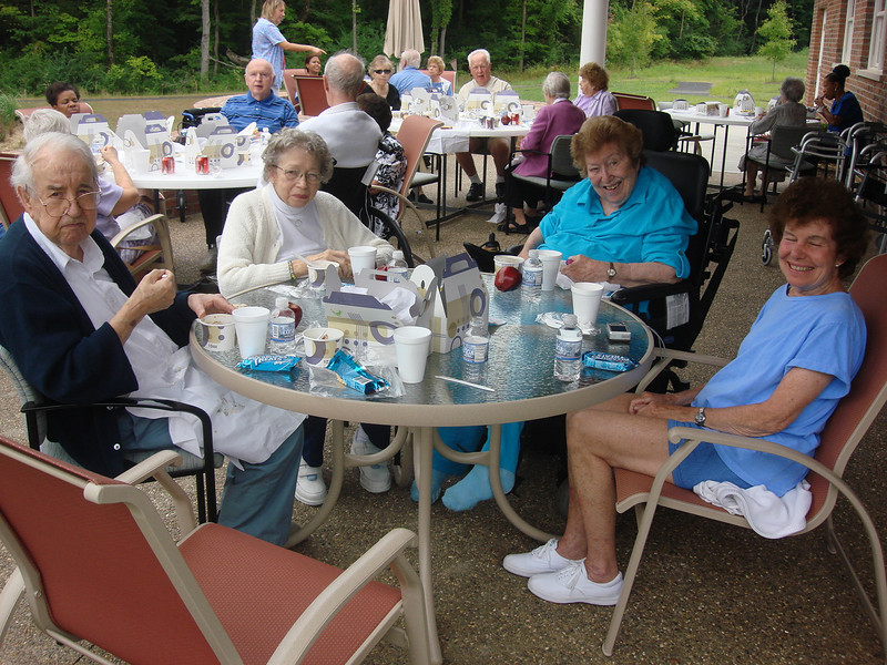 Picnic at the clubhouse