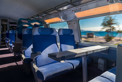 Speed train interior, travel concept