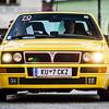Retro cars rally, street view