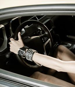 Girl at the wheel