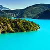 Azure water of Lac De La Castillon